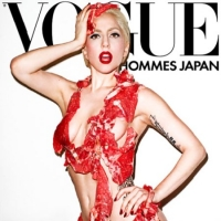 Lady Gaga in a poster for Men's Vogue Japan, shot by Terry Richardson