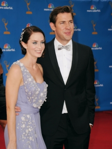 Emily Blunt and John Krasinski arrive at the 62nd Annual Primetime Emmy Awards held at the Nokia Theatre L.A. Live, Los Angeles, August 29, 2010