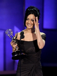 Archie Panjabi accepts the Outstanding Supporting Actress in a Drama Series award onstage at the 62nd Annual Primetime Emmy Awards held at the Nokia Theatre L.A. Live on August 29, 2010 in Los Angeles