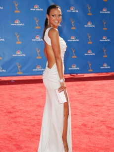 Eva La Rue arrives at the 62nd Annual Primetime Emmy Awards held at the Nokia Theatre L.A. Live in Los Angeles on August 29, 2010