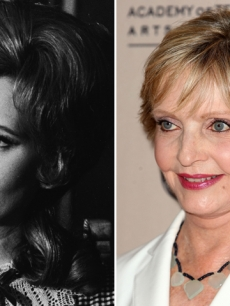 Florence Henderson in 1970 (left) and in 2009 (right)