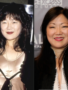 Margaret Cho in 1994 (left) and in 2009 (right)