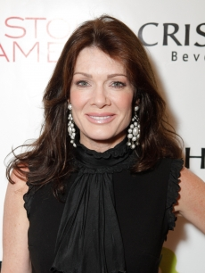 Lisa Vanderpump arrives to the Pistol And Stamen/Christophe Salon/Edin Gail Cocktail Party at the Christophe Salon in Beverly Hills on March 10, 2010