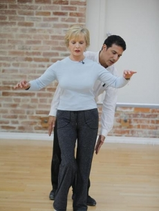 "Florence Henderson and Corky Ballas work on their technique in preparation for ""Dancing with the Stars,"" Los Angeles, Sept. 2010"