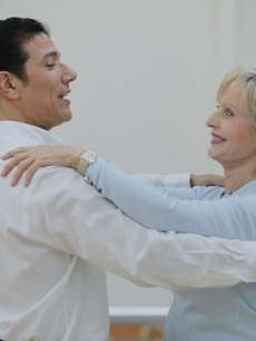 Corky Ballas and Florence Henderson rehearse, Sept. 2010