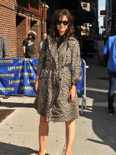 Katie Holmes visits &#8220;The Late Show with David Letterman&#8221; at the Ed Sullivan Theater, NYC, on September 7, 2010