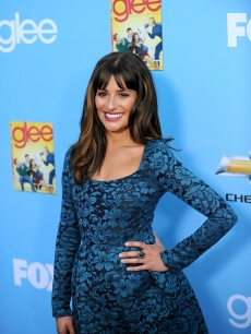 "Lea Michele arrives at the premiere ""Glee"" Season 2 held at Paramount Studios in Hollywood on September 7, 2010"