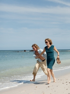 Felicity Huffman and William H. Macy spend their Labor Day on the beach at the St. Regis Punta Mita Resort, Punta de Mita, Mexico, Sept. 6, 2010