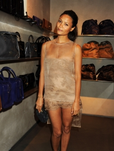Thandie Newton attends Fashion's Night Out At Armani in London, Engaldn, on September 8, 2010