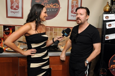 "Access Hollywood's Laura ""Dish of Salt"" Saltman catches up with Ricky Gervais"