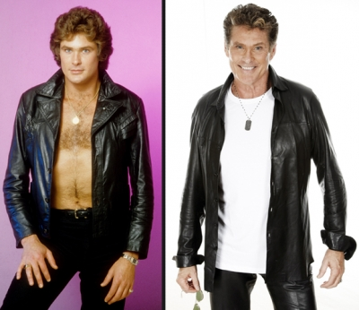 David Hasselhoff in 1980 (left) and in 2010 (right)