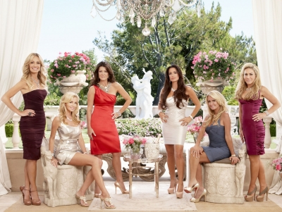 "The cast of Bravo's ""The Real Housewives Of Beverly Hills"" (from left to right: Taylor Armstrong, Camille Grammer, Lisa Vanderpump, Kyle Richards, Kim Richards, Adrienne Maloof)"