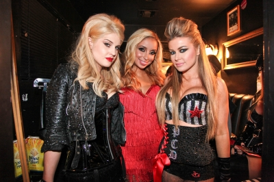 Kelly Osborne, Mya and Carmen Electra attend the Bing Sunset Strip Summer Concert With The Pussycat Dolls in Los Angeles on September 1, 2010