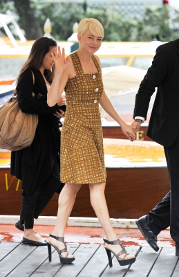 Michelle Williams attends the 67th Venice Film Festival in Venice, Italy, on September 6, 2010
