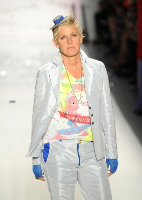 Ellen Degeneres works the runway at the Richie Rich Spring 2011 fashion show during Mercedes-Benz Fashion Week at The Studio at Lincoln Center in New York City on September 9, 2010