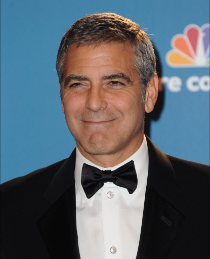 George Clooney poses in the press room at the 62nd Annual Primetime Emmy Awards held at the JW Marriott Los Angeles at L.A. Live in Los Angeles on August 29, 2010 