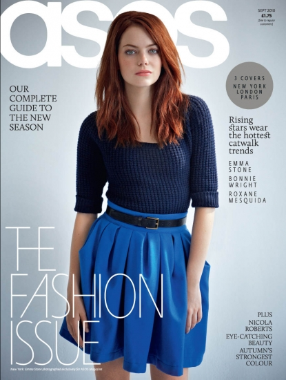 Emma Stone on the cover of ASOS magazine