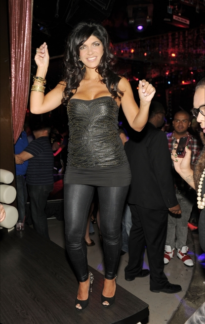 Teresa Giudice hits the dance floor as she hosts Closet Sundays at The Beatles Revolution Lounge at The Mirage, Las Vegas, Sept. 6, 2010