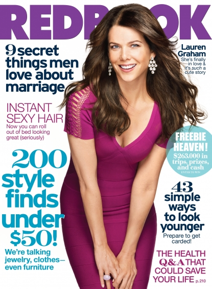 Lauren Graham graces the cover of REDBOOK's October 2010 issue