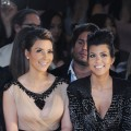 Kim Kardashian and Kourtney Kardashian attend the Jill Stuart Spring 2011 fashion show during Mercedes-Benz Fashion Week at David Koch Theatre at Lincoln Center in New York City on September 11, 2010