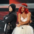 Eminem and Rihanna take the stage at the 2010 MTV Video Music Awards at NOKIA Theatre L.A. LIVE in Los Angeles on September 12, 2010