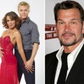Jennifer Grey and Derek Hough in their &#8220;Dancing with the Stars&#8221; cast photo (left), Patrick Swayze in 2007 (right)