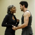 "Brandy and Maksim Chmerkovskiy are seen rehearsing for ""Dancing with the Stars"" in Los Angeles on September 17, 2010"