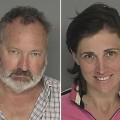 Randy Quaid and Evegenia Quaid's mug shots for their Santa Barbara arrest on September 18, 2010