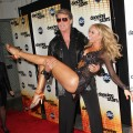 "David Hasselhoff and Kym Johnson attend the premiere of ""Dancing with the Stars"" at CBS Television City in Los Angeles on September 20, 2010"