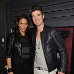 Paula Patton and Robin Thicke attends a private dinner hosted by CHANEL for Karl Lagerfeld at 82 Mercer in New York City on September 9, 2010