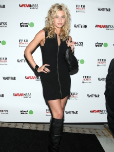 Aly Michalka arrives at the Kenneth Cole Awearness & Feed Projects' launch of The Feed Health Backpak on August 26, 2009