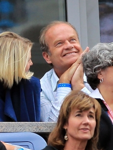 Kelsey Grammer watches as Venus Williams of the United States plays against Kim Clijsters of Belgium during her women&#8217;s semifinal match on day twelve of the 2010 U.S. Open at the USTA Billie Jean King National Tennis Center, Flushing, Queens, on September 10, 2010 in 