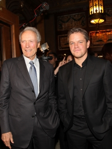 "Clint Eastwood and Matt Damon attend the ""Hereafter"" premiere held at The Elgin during the 2010 Toronto International Film Festival in Toronto on September 12, 2010"