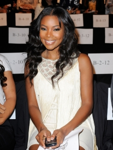 Gabrielle Union attends the Badgley Mischka Spring 2011 fashion show during Mercedes-Benz Fasnion Week at The Theater at Lincoln Center in New York City on September 14, 2010 