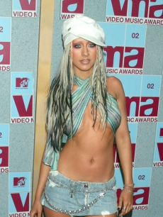 Christina Aguilera at the 2002 Video Music Awards