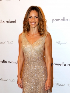 Hilary Swank attends the Pamella Roland Spring 2011 presentation during Mercedes-Benz Fashion Week at The Whitney Museum of American Art, NYC, September 14, 2010