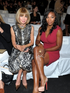 Anna Wintour and Serena Williams attend the Michael Kors Spring 2011 fashion show during Mercedes-Benz Fashion Week at The Theater at Lincoln Center in New York City on September 15, 2010