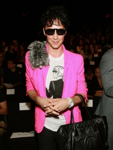 Figure skater Johnny Weir attends the Isaac Mizrahi Spring 2011 fashion show during Mercedes-Benz Fashion Week at The Theater at Lincoln Center in New York City on September 16, 2010