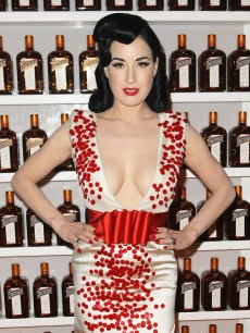 Dita Von Teese arrives for the performance of her &#8220;Be Cointreauversial&#8221; show in Sydney, Australia, on September 16, 2010 