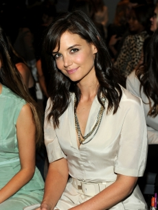 Katie Holmes attends the Calvin Klein Spring 2011 fashion show during Mercedes-Benz Fashion Week in New York City on September 16, 2010