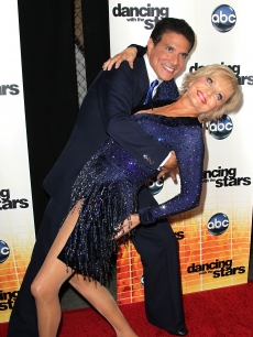 Corky Ballas and Florence Henderson attend the premiere of &#8220;Dancing with the Stars&#8221; at CBS Television City in Los Angeles on September 20, 2010 