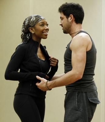 Brandy and Maksim Chmerkovskiy are seen rehearsing for &#8220;Dancing with the Stars&#8221; in Los Angeles on September 17, 2010