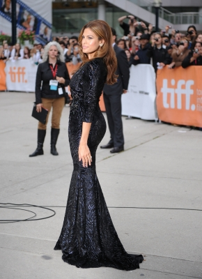 Eva Mendes attends the &#8220;Last Night&#8221; Premiere during the 35th Toronto International Film Festival at Roy Thomson Hall in Toronto, Canada, on September 18, 2010