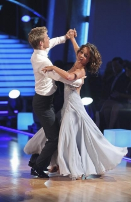 "Jennifer Grey and Derek Hough on the season premiere of ""Dancing with the Stars"""