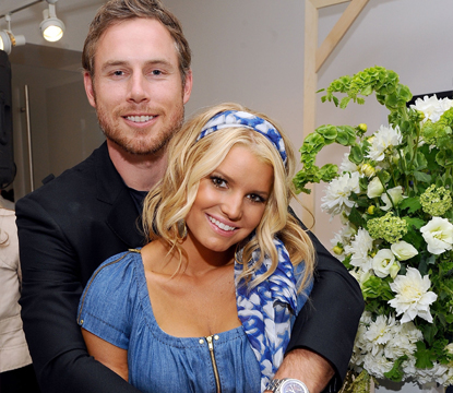 "Eric Johnson and Jessica Simpson attend a launch event and press preview for the Spring 2011 Jessica Simpson Collection ""Show Me Your Blues"" Jeanswear at Jessica Simpson Collection Showroom in New York on September 7, 2010"