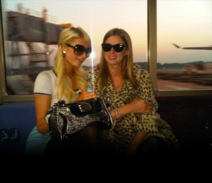 Paris and Nicky Hilton are seen in Tokyo on September 21, 2010