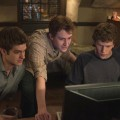 "Andrew Garfield, Joseph Mazzello, Jesse Eisenberg and Patrick Maple in ""The Social Network"""