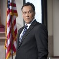 "Jimmy Smits as former Supreme Court Justice Cyrus Garza in NBC's drama ""Outlaw,"" September 2010"