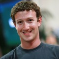 Facebook founder and CEO Mark Zuckerberg smiles before speaking at a news conference at Facebook headquarters in Palo Alto, Calif. On August 18, 2010
