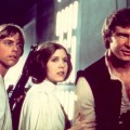 Mark Hamill, Carrie Fisher and Harrison Ford in &#8220;Star Wars&#8221;